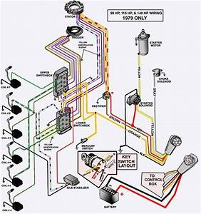 Wiring Diagram For Mercruiser 140  With Images