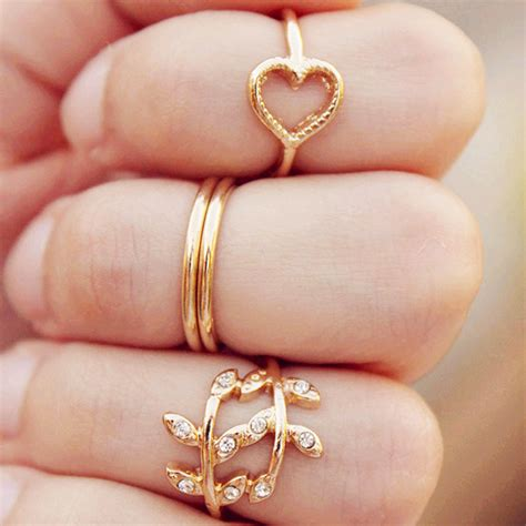 $249 4pcsset Ring Cute Heart & Leaf Shaped Ring Boho. Geek Wedding Rings. Mineral Engagement Rings. Different Jewellery Wedding Rings. 14k Yellow Gold Wedding Rings. Diy Wedding Wedding Rings. Healthcare Worker Wedding Rings. Crown Rings. Army Rings