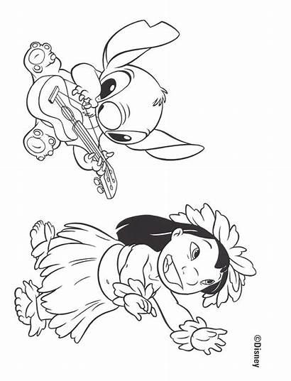 Stitch Coloring Lilo Disney Printable Ohana Angel