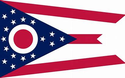 Ohio Flag State Looking Colors Flags Court