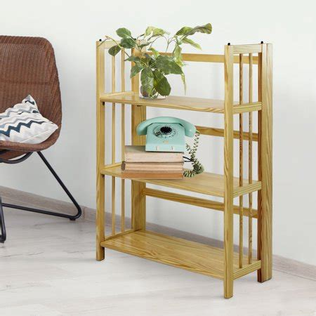 Small Bookcase Walmart by 3 Shelf Folding Stackable Bookcase 27 5 Quot Wide