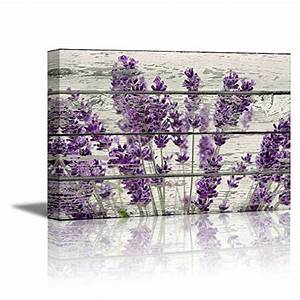 Home Decor Canvas Wall Art Purple Lavender Flowers on ...