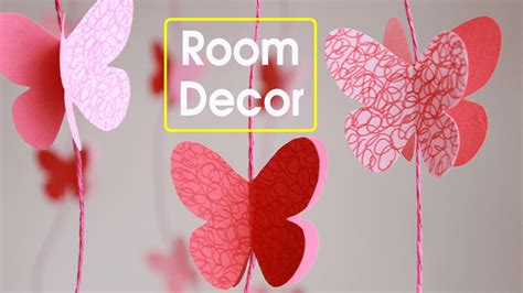 diy butterflies wall room decor make paper butterflies easy paper crafts youtube