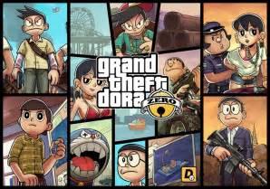 Gta V Artwork by The Twist And Turn Of Doraemon In Gta V Offgamers Blog