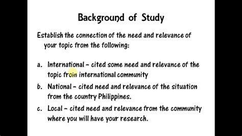 research background filipino tutorial youtube