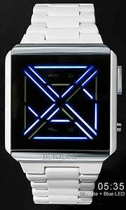Futuristic Led Watch Design With Time  Date  Alarm