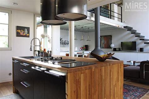 cuisine design salon moderne enbois