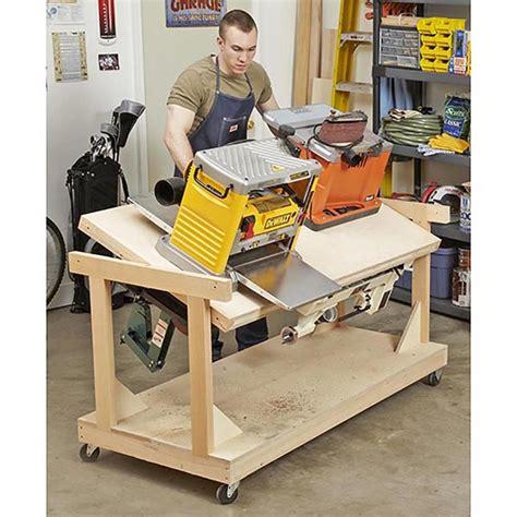 flip top tool bench woodworking plan  wood magazine