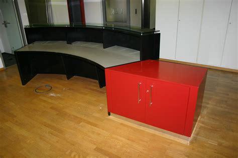holz lack schwarz empfangstheke tresen theke holz lack schwarz rot glasplatte d665 ebay