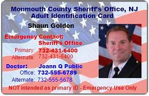 Ident-Adult ID Card Program – Monmouth County Sheriff's Office
