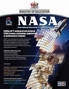 NIHERST | NASA International Internship Program