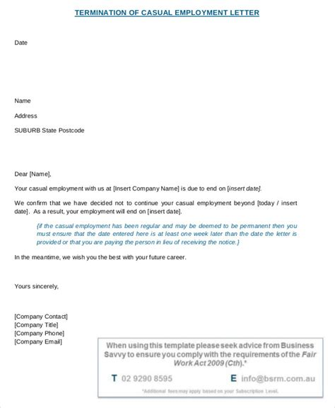 employee ter mination letter templates   ai