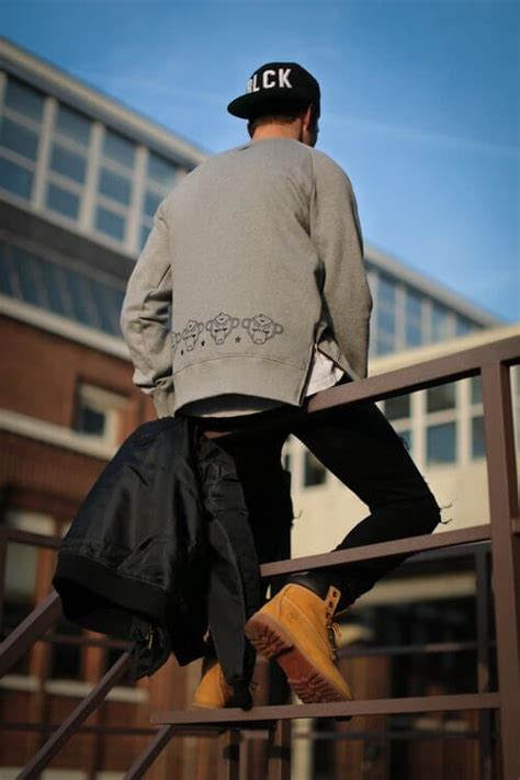 timberland boots outfits streetwear street timberlands winter cool photoshoot urban wear outfit mens boys dope casual monkey shoes gangster jeans