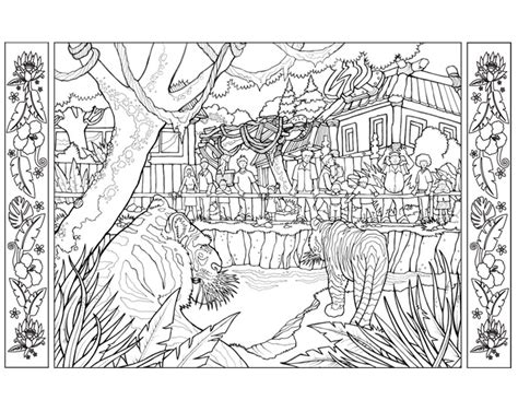 Coloring Zoo Page by Zoo Coloring Pages Gianfreda Net