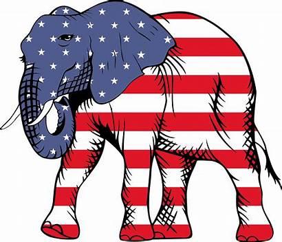 Elephant Patriotic Clipart Svg