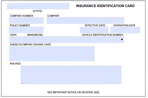 auto insurance card template card template car