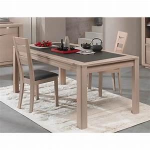 Table Chene Gris : table c ramique monaco ch ne gris mat x x p ~ Teatrodelosmanantiales.com Idées de Décoration