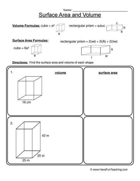 Volume Worksheet Homeschooldressagecom