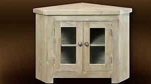 Meuble En Angle : meuble tv d 39 angle style massif fini blanchi ~ Edinachiropracticcenter.com Idées de Décoration