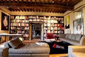 Bibliothque Murale Bois Ides De Dcoration Intrieure