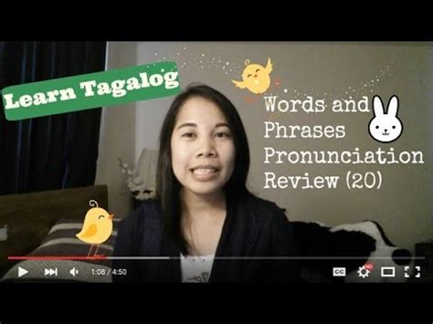 learn tagalog words and phrases pronunciation review 20