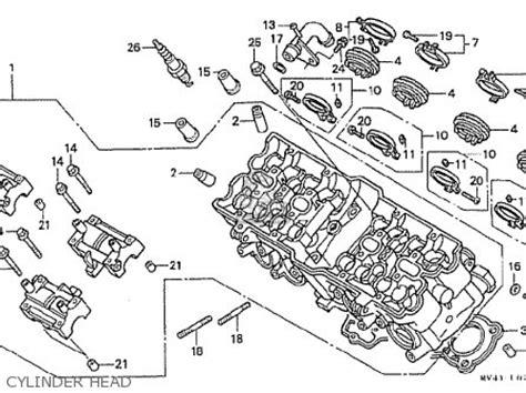 honda cbr400rr 1992 n domestic nc29 105 parts list partsmanual partsfiche