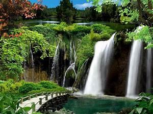 Garden, Waterfall, Hd, Desktop, Wallpaper, Widescreen, High, Definition, Fullscreen