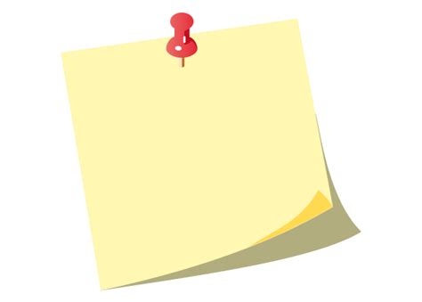 post it free vector yellow post it notes with push pin 123freevectors
