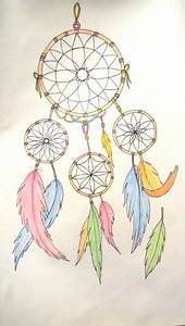 drawing dreamcatcher color catcher drawing