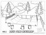 Skatepark Ramp sketch template