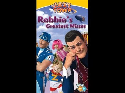 opening  lazytown robbies greatest misses  vhs youtube