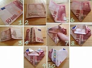 Sonnenschirm Aus Geld Basteln : 10 euro geldschein zu einem herzen falten eurogami ~ Lizthompson.info Haus und Dekorationen