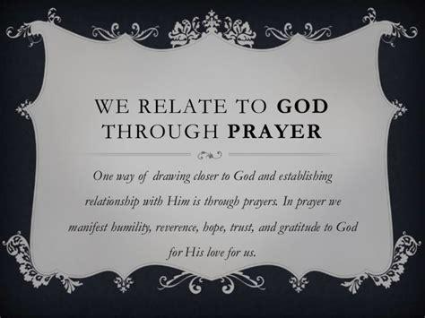 relate  god  prayer