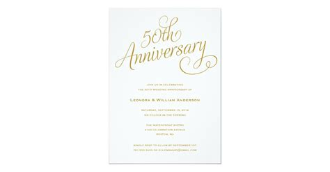 50TH WEDDING ANNIVERSARY INVITATIONS Zazzle co uk