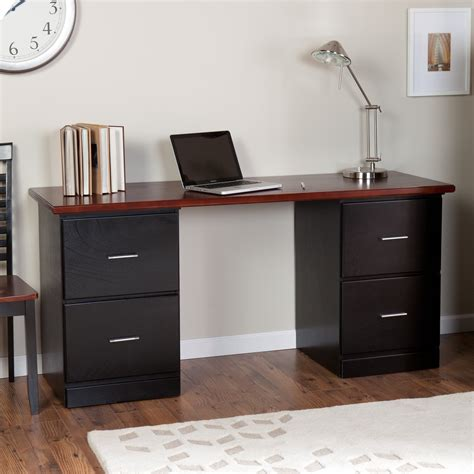 brown wood desk beautiful small desk with drawers ideas midcityeast