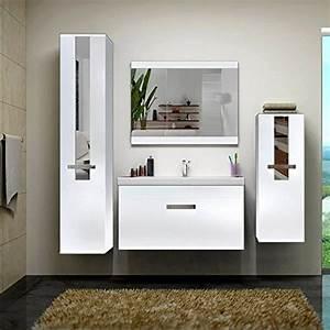 Home Deluxe Badmöbel : home deluxe badm bel set juist wei inkl waschbecken und komplettem zubeh r ~ Orissabook.com Haus und Dekorationen