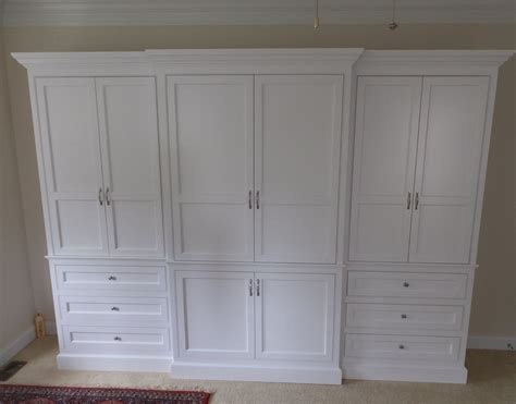 custom made built in wardrobe armoire by j s woodworking