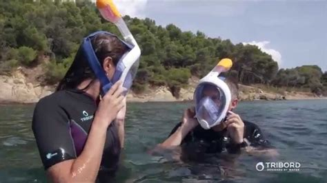 full face snorkel mask tribord easybreath youtube