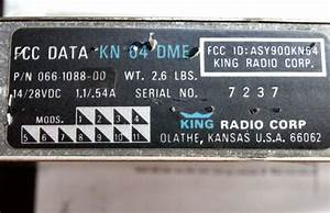 Sell How Far From Vor  King Kn64 Dme W   Tray  Ka60 Antenna  Switch  Wiring Diagram Motorcycle In