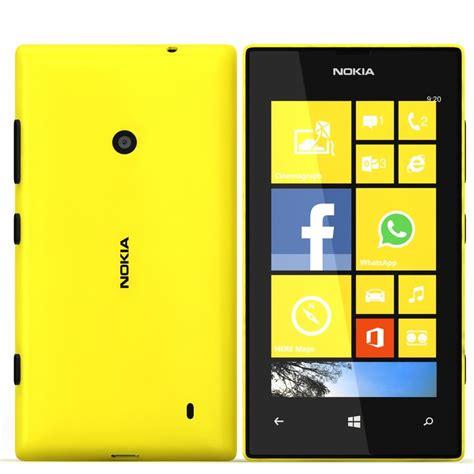 Nokia Lumia 520 Yellow  Nokia Lumia 520 Yellow 3d Model
