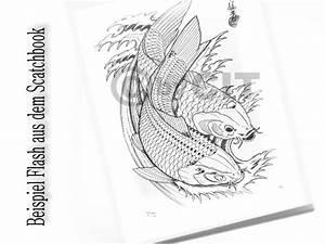 Koi Tattoo Vorlagen : tattoovorlagen japanische koi karpfen tattoo sketchbook stecil flash buch ~ Frokenaadalensverden.com Haus und Dekorationen
