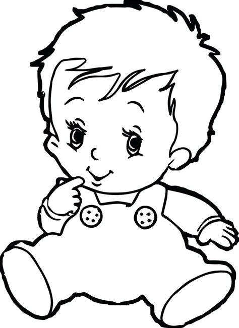Newborn Baby Coloring Pages at GetColorings com Free