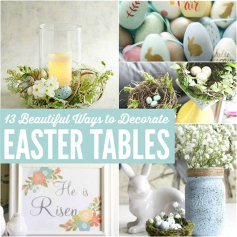 Decorating Ideas For Easter by 13 Easy Easter Decorating Ideas Table Decorations