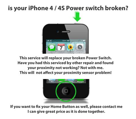apple iphone 4 4s lock power button switch repair