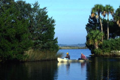Public Boat Rs Volusia County Florida by Florida Memory View Of People Canoeing At Tomoka State