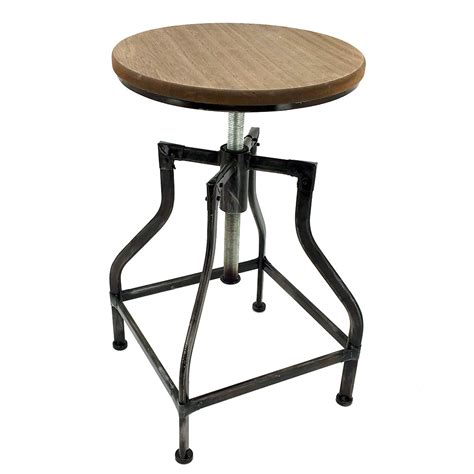 vintage bar stool new rustic retro bristol barstool steel rotating 3162