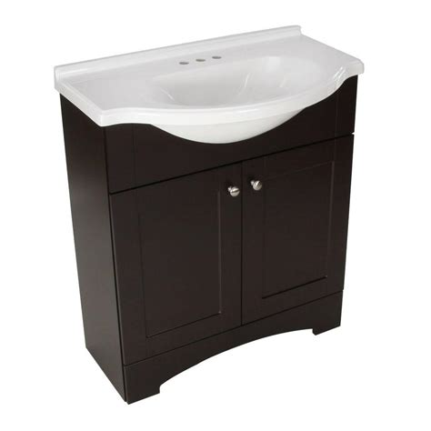 glacier bay bathroom vanity with top glacier bay mar 30 in w x 19 in d bath vanity in