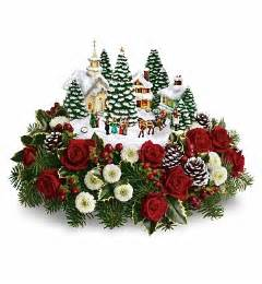 thomas kinkade s christmas carolers bouquet flower bouquets