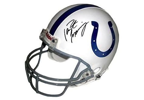 Lot Detail Peyton Manning Autographed Riddell Colts