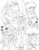 Coloring Ghibli Studio Spirited Away Printable Miyazaki Getcolorings Freecoloringpages Getdrawings sketch template